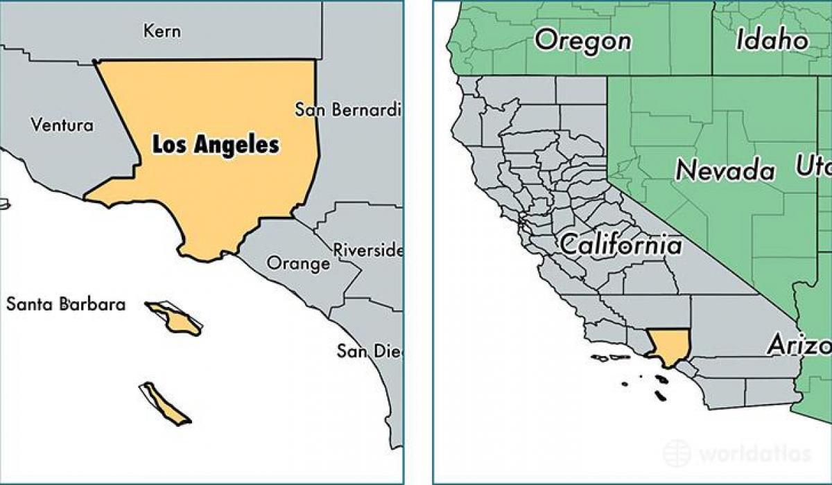 La California Kartta Las Angeles California Kartta Kalifornia Usa
