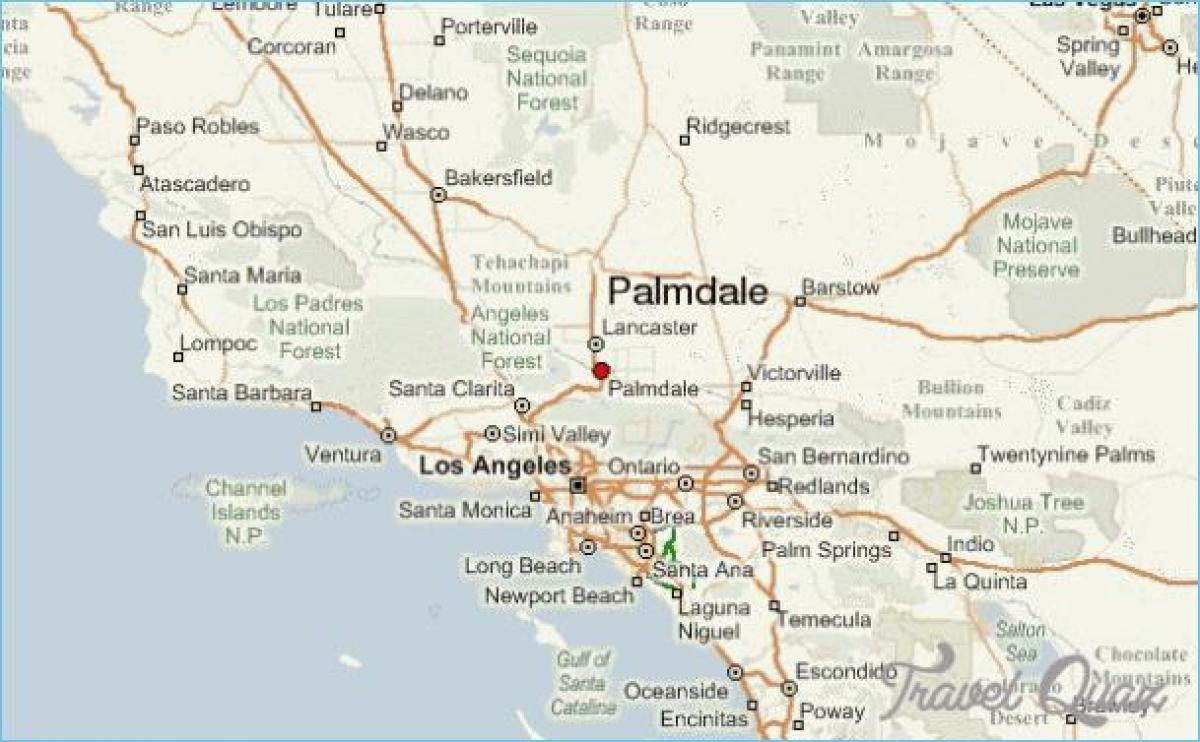 Palmdale Kartta Kartta Palmdale Kalifornia Usa